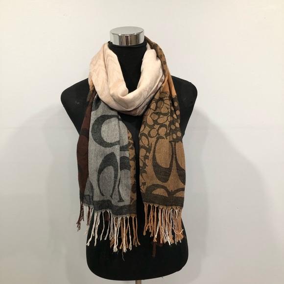 Coach long shawl/ scarf